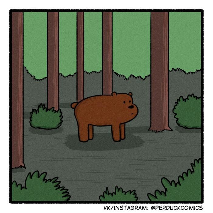 Классика Медведь, Горит, Машина, Баян, Классика, Веб-Комикс, Длиннопост