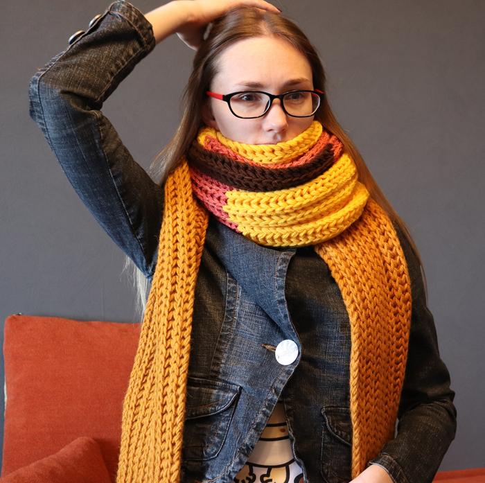 Минус пункт из списка хотелок: длинный шарф. Шарф, Вязаный шарф, Вязание, Рукоделие без процесса, Длиннопост