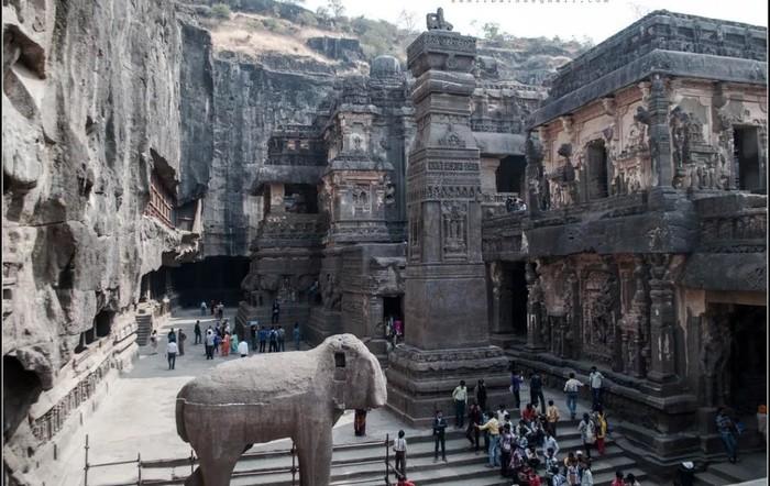 Храм Кайласанатха - храм, высеченный из скалы. Храм, Архитектура, Индия, Длиннопост