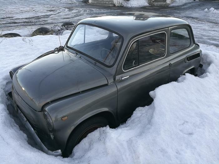 Подснежник Авто, Снег, Весна, Запорожец