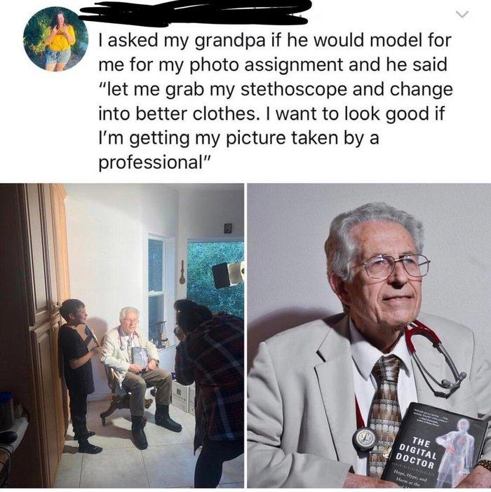 Отзывчивый дедушка Модели, Дед, Образ, Фотография, Скриншот