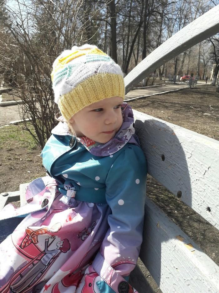 Моя первая шапочка. Вязание, Шапка, Дети, Вяжу спицами, Спицы, Длиннопост