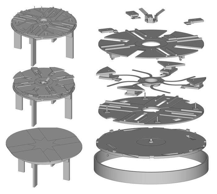 """Расширяющийся стол """"Expanding Table"""" Своими руками, Мебель, Стол, Расследование, Длиннопост"""