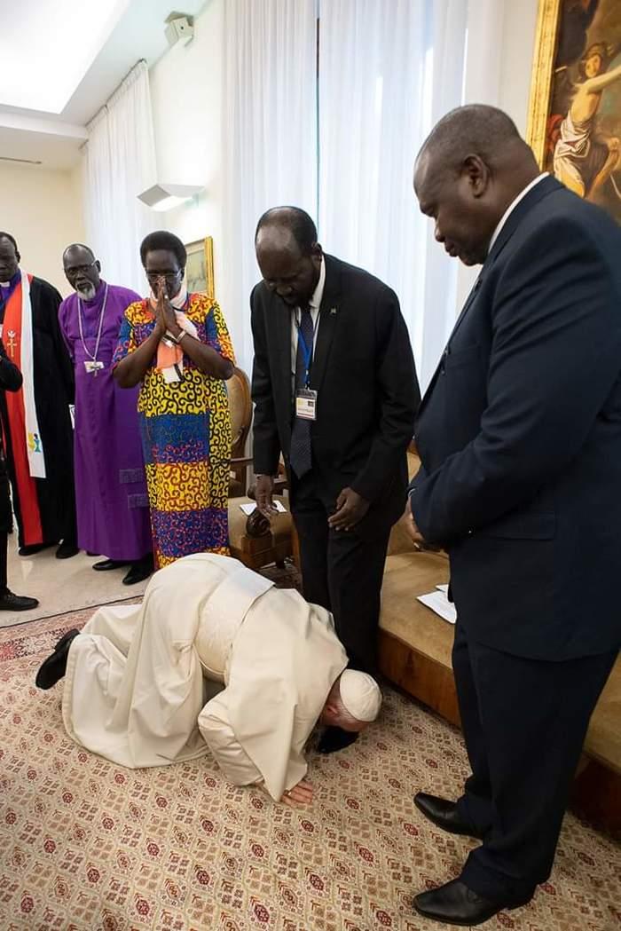 Поцелуй мира Папа Римский, Переговоры, Южный Судан