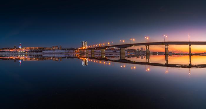 Perm mirror Фотография, Город, Пермь, Красота, Пейзаж, Вечер, Закат, Панорама