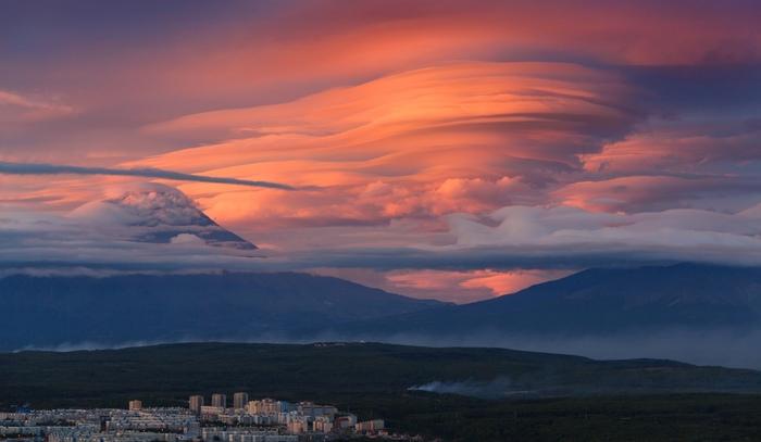 Облака Фотография, Вулкан, Облака, Красота природы, Россия