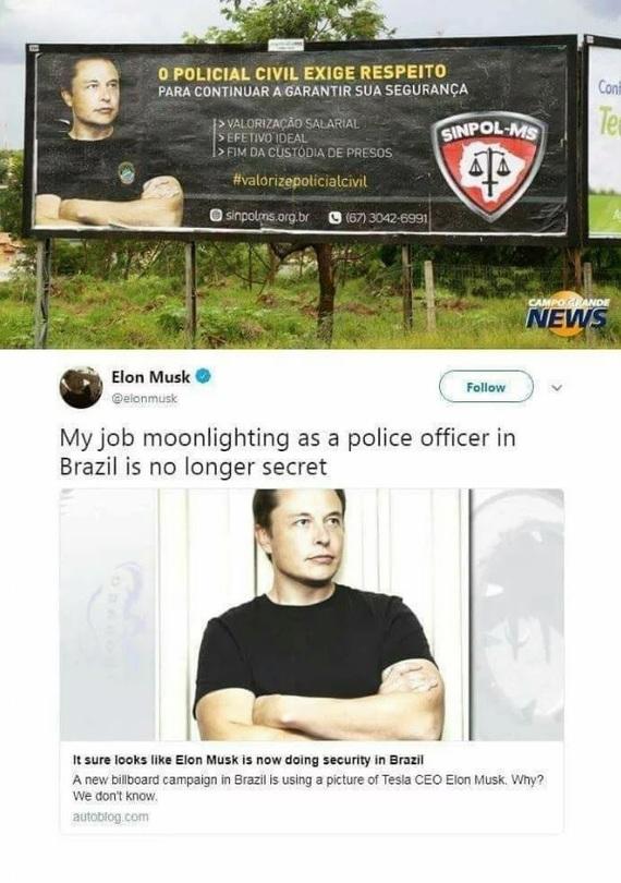 Такой себе бразильский полицейский Илон Маск, Как тебе такое илон маск, Фотография, Перевод, 9GAG, Скриншот