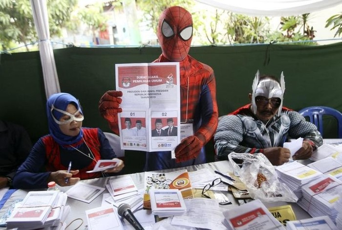 Выборы 2019 в Индонезии Индонезия, Выборы, Супергерои