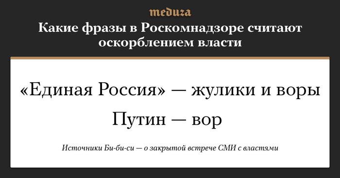 В Роскомнадзоре рассказали, какие фразы оскорбляют российскую власть. Вот они СМИ, Оскорбление власти, Политика, Роскомнадзор