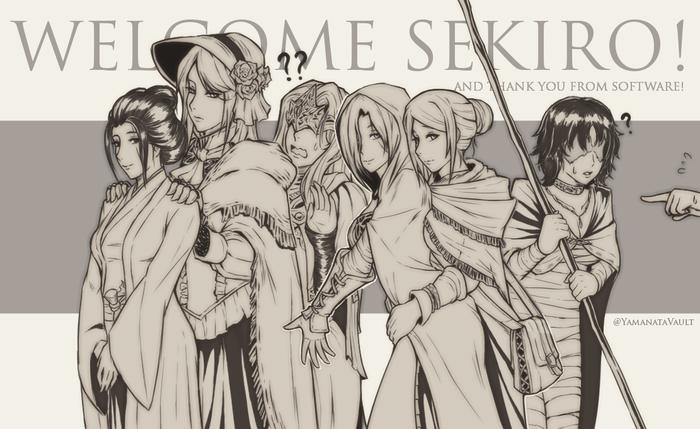 Welcome to the family Yamanata, Sekiro: Shadows Die Twice, Dark Souls, Bloodborne, Demons Souls, Игры, Арт