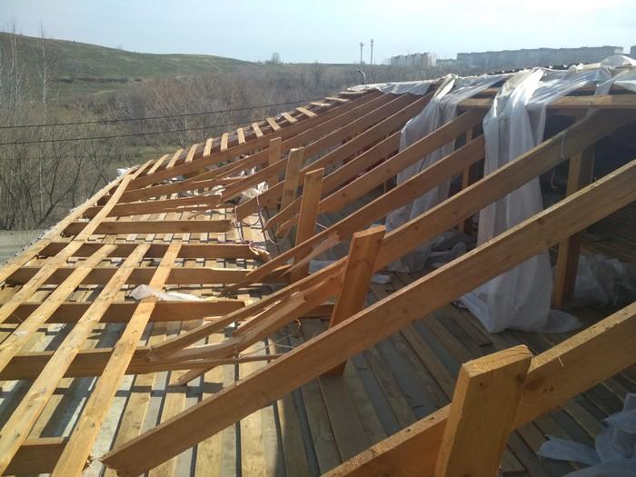 Внимание к деталям Стройка, Крыша, Снег, Рукожоп, Видео, Длиннопост