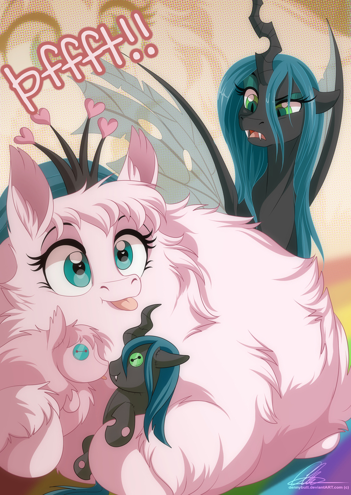 Shipping With The Queen My Little Pony, Original Character, Queen Chrysalis, Fluffle Puff, Шиппинг, MLP Lesbian, Dvixie