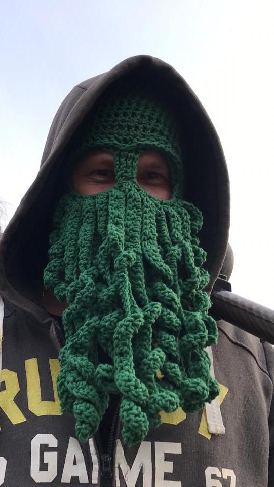 Шапка-маска Ктулху Вязание крючком, Рукоделие без процесса, Ктулху