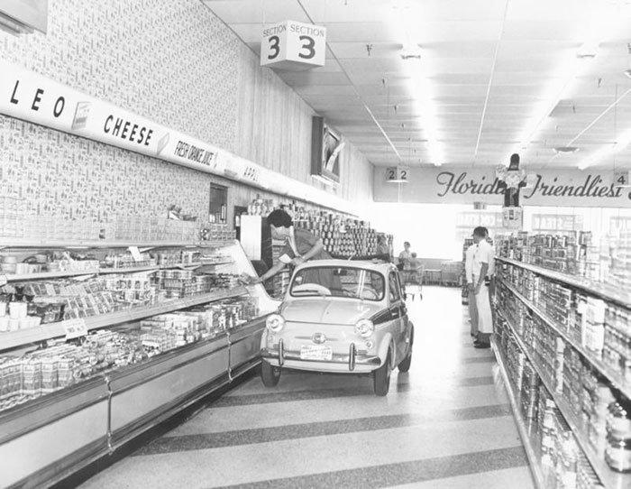 Винтажные снимки в американских супермаркетах Фотография, Винтаж, 20 век, Редкие фото, США, Супермаркет, Люди, Длиннопост, Историческое фото