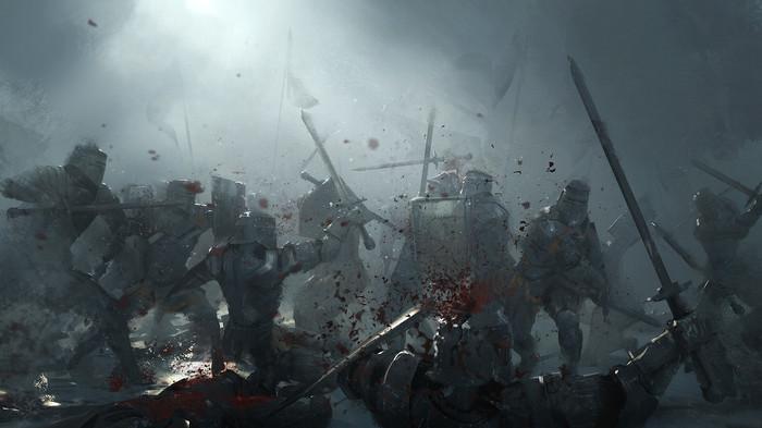 Битва Арт, Рисунок, Битва, Рыцарь