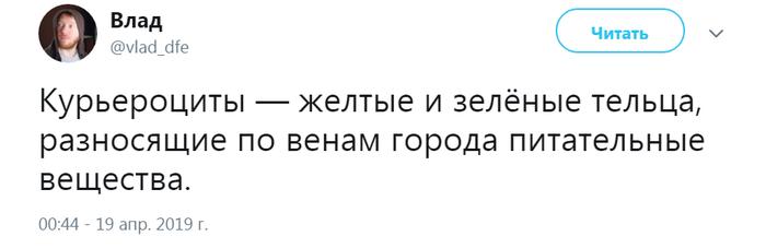 Курьероциты. Курьер, Яндекс еда, Delivery Club, Доставка еды, Шутка, Twitter, Скриншот