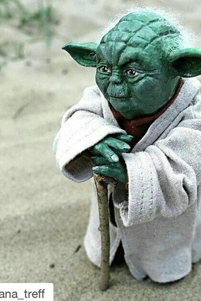 Одни из первых работ. Кукла, Звездные войны VII, Магистр, Йода, Фильмы девять, Хобби, Рукоделие без процесса, Своими руками, Длиннопост