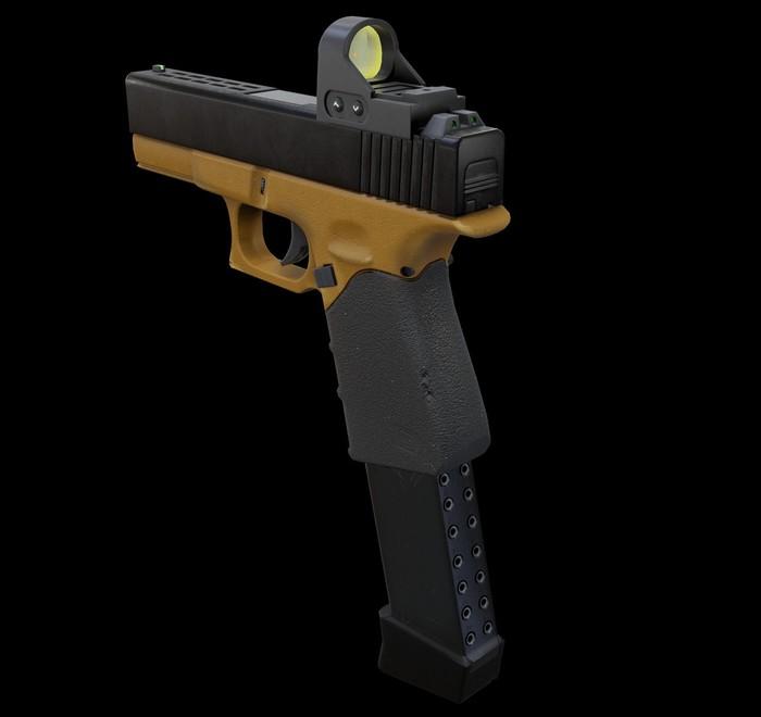 Первая серьезная работа 3D, Blender, Оружие, Длиннопост