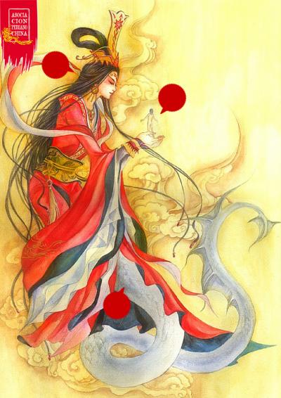 Немножко мифологии. Нюйва. Мифология, Текст, Длиннопост, Китай, Китайская мифология