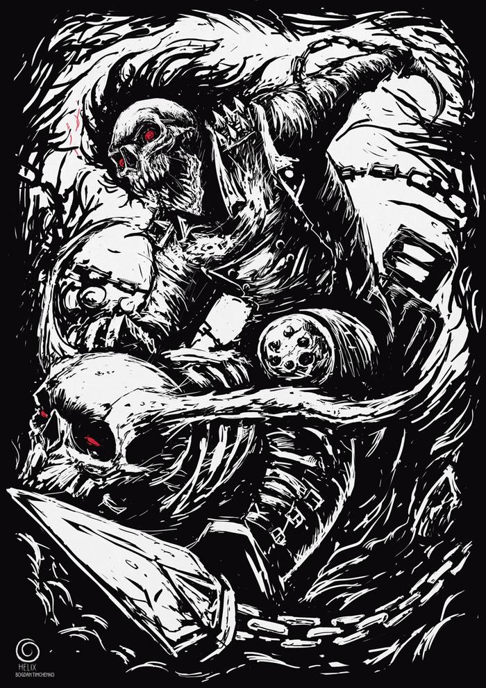 Ghost Rider Призрачный гонщик, Marvel, Постер, Длиннопост, Рисунок, Цифровой рисунок
