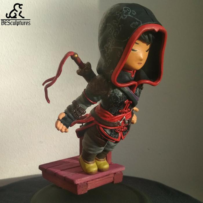 Шао Цзюнь (чиби) Assassins Creed, Полимерная глина, Фигурка, Чиби, Длиннопост