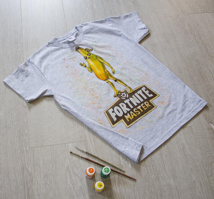 Ручная роспись детской футболки Футболка, Банан, Роспись по ткани, Длиннопост