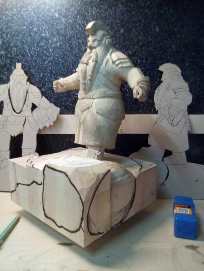 Всем хакуна матата.  И снова на связи поехавший на фентези( а в данный момент именно на дворфах) Бобёр. Резьба по дереву, Скульптура, Властелин колец, Дворфы, Тролль, Толкин, Работа с деревом, Рукоделие с процессом, Длиннопост