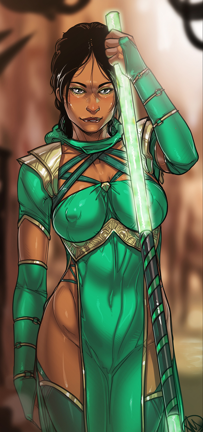 Jade Ganassa, Jade, Jade MK, Mortal Kombat, Mortal Kombat 11, Игры, Арт, Длиннопост
