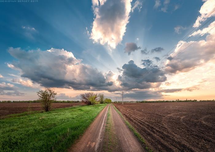 #почтилето) Фотография, Пейзаж, Дорога, Просторы, Цвет, Вечер, Nikon