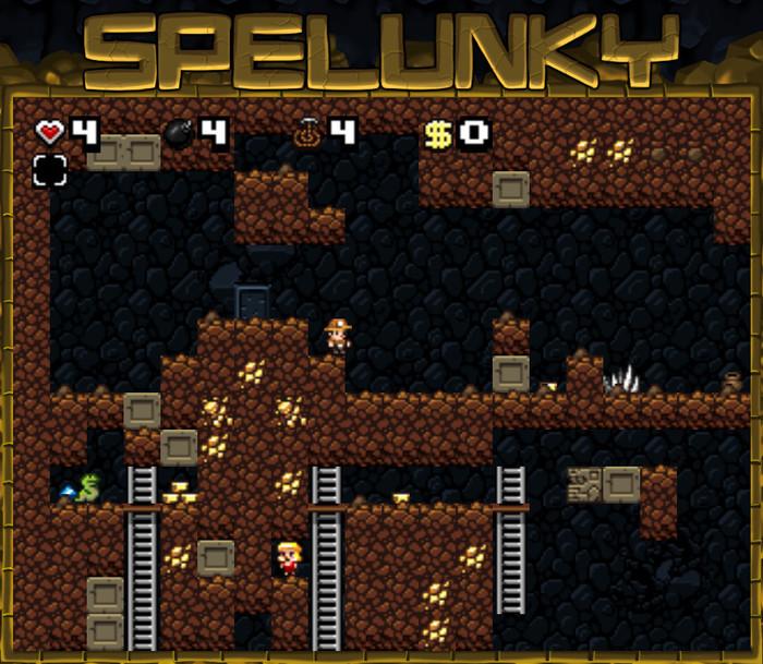 Современные таймкиллеры #1 - браузерный порт Spelunky Браузерные игры, Онлайн-Игры, Таймкиллер, Роглайк, Длиннопост
