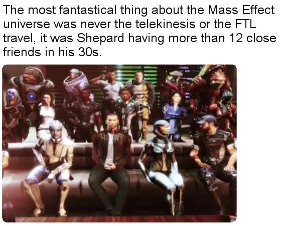 Научная фантастика... Mass Effect, Reddit, Друзья, Юмор, Скриншот