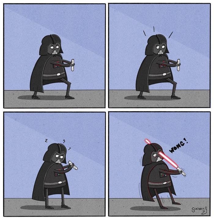 Соблюдайте технику безопасности. Не направляйте на себя световой меч.