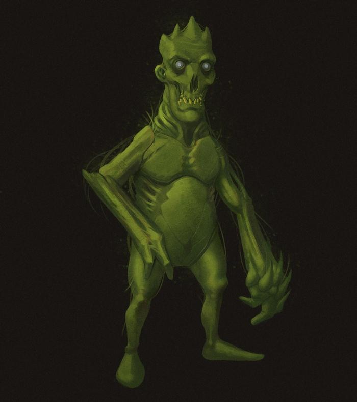 Заросший зомби Риссунок, Иллюстрации, Зомби, Персонажи, Photoshop, Компьютерная графика, 2d, Цифровой рисунок