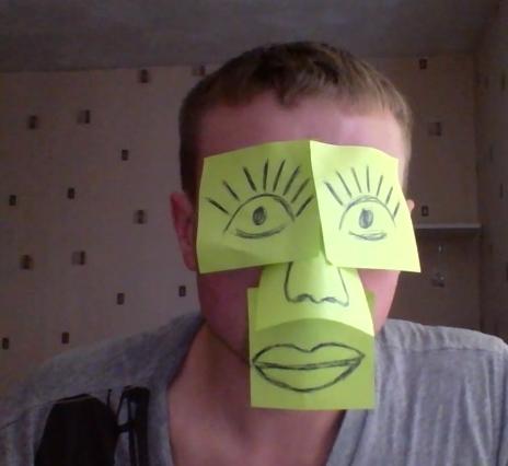 Предлагаю Флешмоб - клеим стикеры на лицо, делаем селфи, постим сюда и ржем в комментариях )))