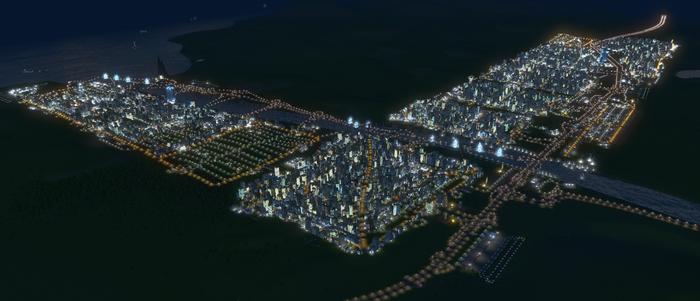 Очень плотная застройка в Cities: Skylines. Часть 2 Урбанистика, Видео, Длиннопост, Cities: Skylines