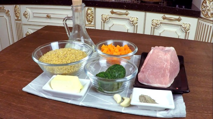 Мясо с Булгуром и Овощами С дедом за обедом, Мясо, Рецепт, Видео рецепт, Вкусно, Видео, Длиннопост, Булгур, Кулинария