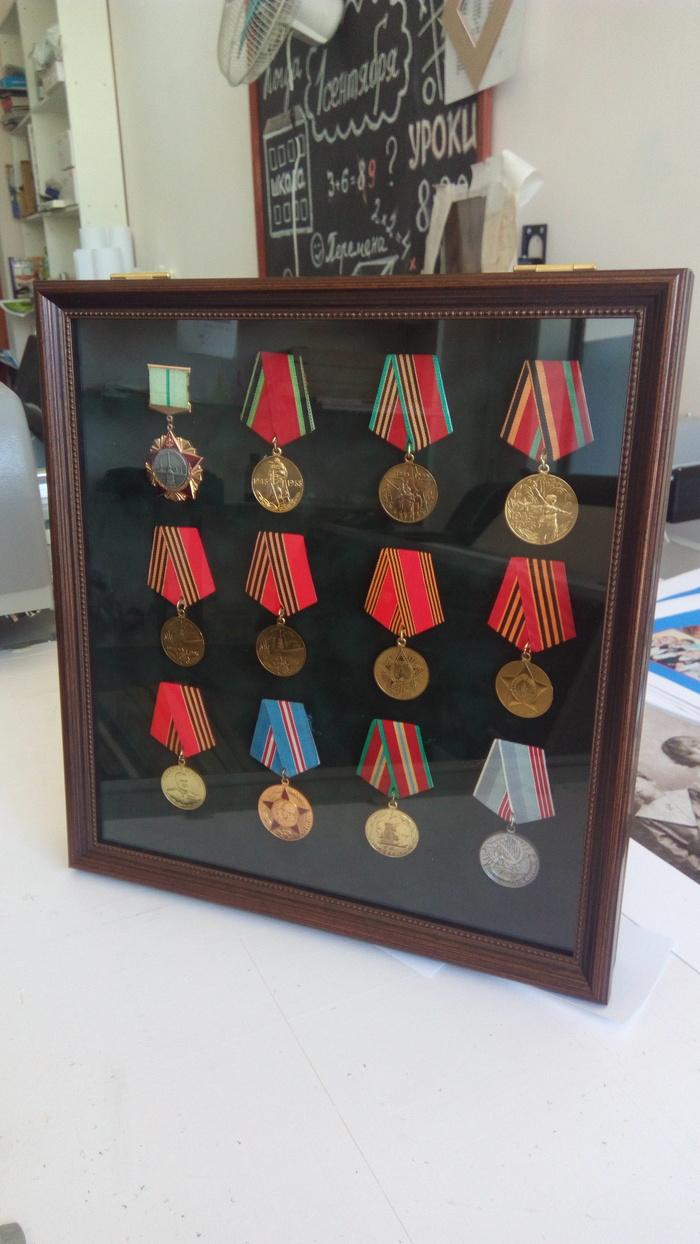 Медали в раму. Медали, Рама, Багетная мастерская, Ручная работа, Хобби, Длиннопост