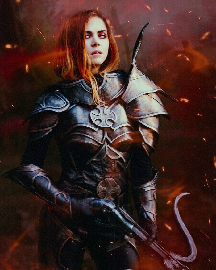 Demon Hunter from Diablo Demon Hunter, Diablo, Blizzard, Игры, Косплей, Девушки, Арбалет, Костюм, Длиннопост