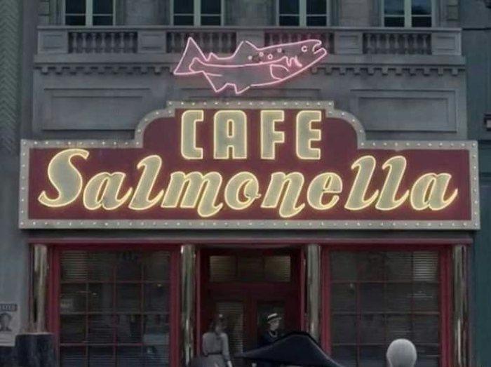 Кафе с говорящим названием. Кафе, Сальмонелла, Смешное название
