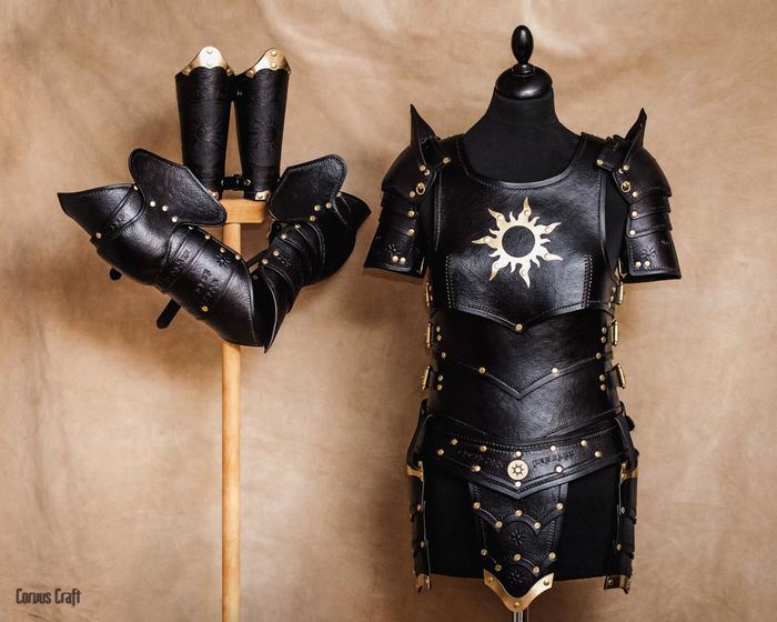 Нильфгаардский Доспех Длиннопост, Corvuscraft, Пикабу творческий, Ручная работа, Ведьмак, The Witcher 3:Wild Hunt, Изделия из кожи