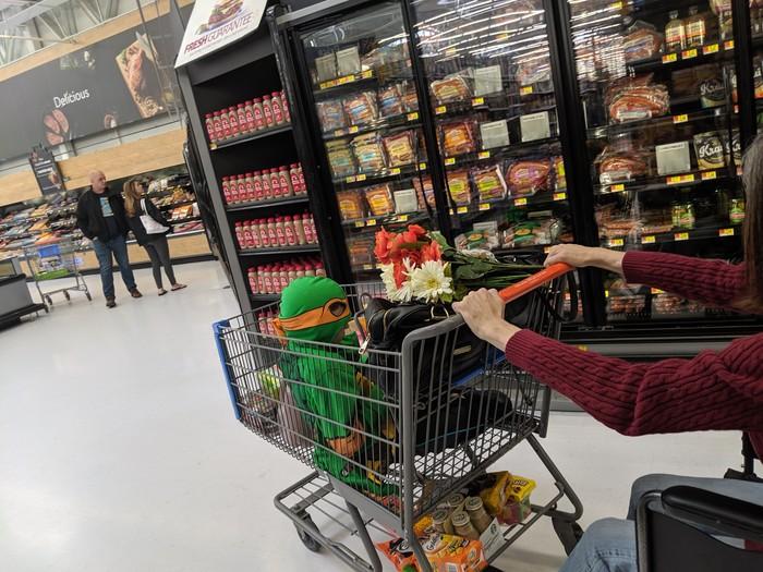 Черепашка ниндзя Детство, Костюм, Супермаркет, Фотография, Черепашки-Ниндзя
