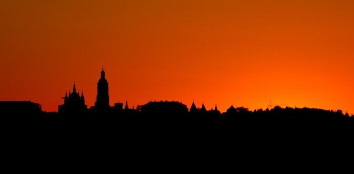 Тобольский кремль в лучах заката.