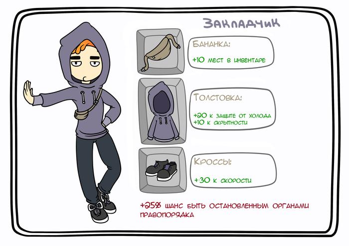 Кежуал РПГ Рисунок, Одежда, RPG, Длиннопост