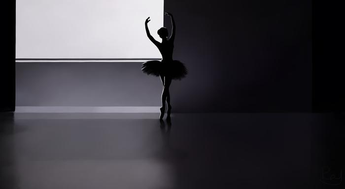 По следам одного талантливого японца Арт, Черно-Белое, Рисунок, Цифровой рисунок, Иллюстрации, Музыка, Балерины, Ryoji Ikeda