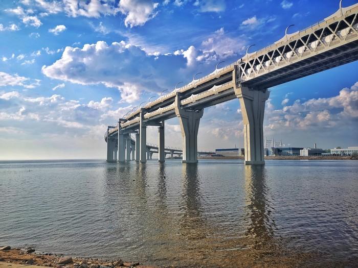 Питер Санкт-Петербург, Нарвская, Финский залив, Мост, Длиннопост, Канонерский остров