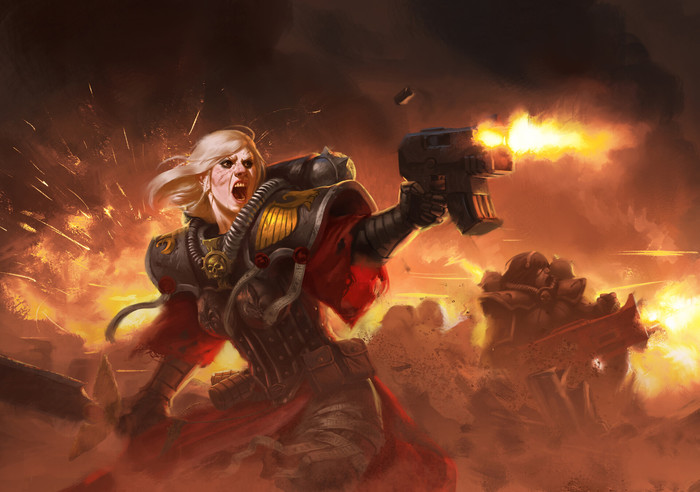 Сёстры битвы Warhammer 40k, Adepta Sororitas, Wh Art, Арт
