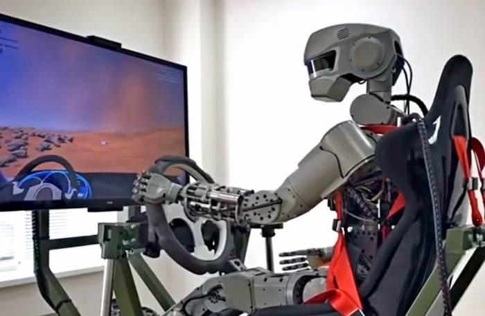 Робота Федора могут отправить на Луну Космос, Луна, Роскосмос, Робот, Fedor