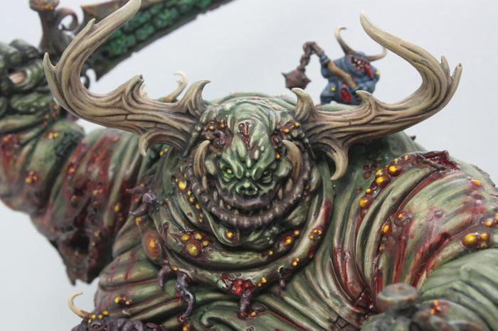 Великий нечистый, мега длиннопост Длиннопост, Warhammer 40k, Warhammer, Хобби, Миниатюра, Покраска миниатюр, Хаос