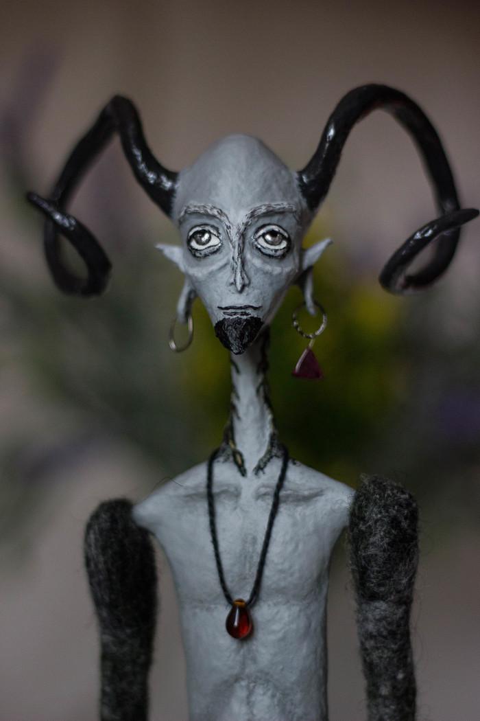 Фавн. Авторская кукла Рукоделие без процесса, Творчество, Хобби, Своими руками, Рукоделие, Сухое валяние, Длиннопост