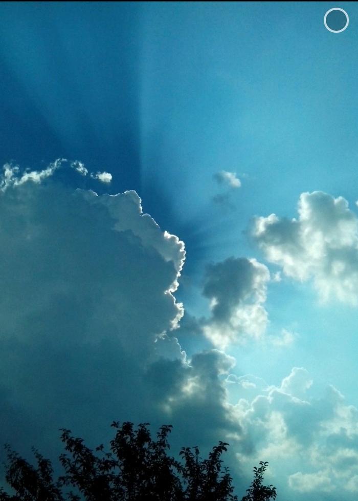 Облако. Облака, Игра света, Солнечные лучи